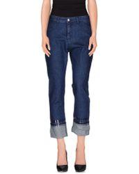 MM6 by Maison Martin Margiela - Blue Denim Trousers - Lyst