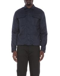 DSquared² - Blue Wool Flannel Shirt Jacket - Lyst
