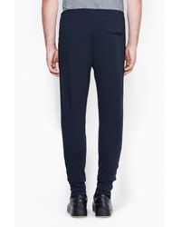 3.1 Phillip Lim - Blue Tapered Pant With Combo Binding - Lyst