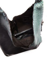 Henry Beguelin - Green Canotta Woven Leather Hobo Bag - Lyst