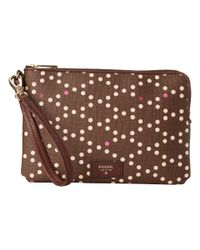 Fossil | Brown Large Wristlet | Lyst