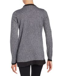 Calvin Klein | Black Knit Open-front Sweater | Lyst
