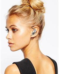 Girls On Film | Metallic Diamante Ear Cuff | Lyst