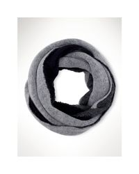 Ralph Lauren - Gray Triple-layer Infinity Scarf - Lyst