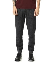 Steven Alan | Black Tiger Fleece Sweatpants for Men | Lyst