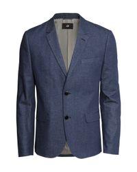 H&M - Blue Denim Blazer for Men - Lyst