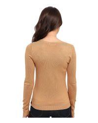 525 America | Natural V-neck Side Slit | Lyst