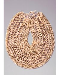 Bebe - Metallic Layered Chainlink Necklace - Lyst