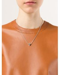 Eddie Borgo - Metallic Pearl Single Cone Pendant Necklace - Lyst