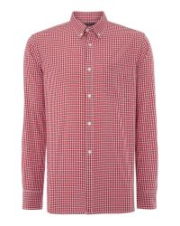 French Connection | Red Core Silicon Connery Check Slim Fit Shirt for Men | Lyst
