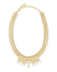 DANNIJO - Metallic Liev Gold-plated Crystal Necklace - Lyst