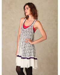 Free People - White Cross My Heart In Lace Tunic - Lyst
