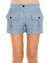 Paul & Joe - Blue Striped Shorts - Lyst