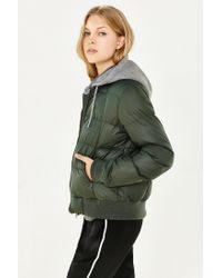 BB Dakota - Green Kiley Puffer Jacket - Lyst