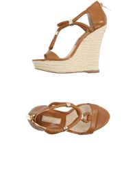 Michael Kors | Brown Sandals | Lyst