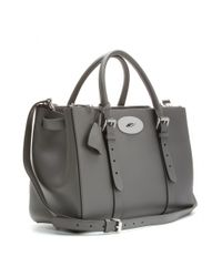 Mulberry | Gray Bayswater Double Zip Leather Tote | Lyst
