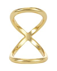 Fallon - Metallic Infinity Bent Ring - Lyst