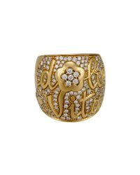 Pasquale Bruni - Metallic Dolce Vita 18k Diamond Flower Band Ring - Lyst
