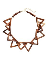 H&M | Brown Wooden Necklace | Lyst