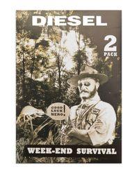 DIESEL | Blue Two-pack Brief Set for Men | Lyst