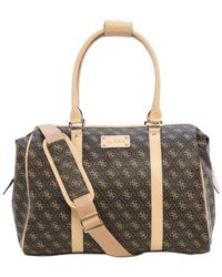 Guess | Brown Logo Affair Dlx Doctor's Tote | Lyst