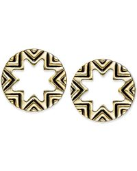 House of Harlow 1960 | Metallic Gold-tone White Sunburst Mini Stud Earrings | Lyst