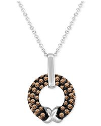 Le Vian | Brown Chocolatier® Chocolate Diamond Pendant Necklace (5/8 Ct. T.w.) In 14k White Gold | Lyst
