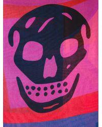 Alexander McQueen | Multicolor Logo Print Scarf | Lyst