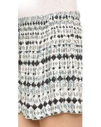 Ella Moss - Black Cortez Mini Shorts - Indigo - Lyst