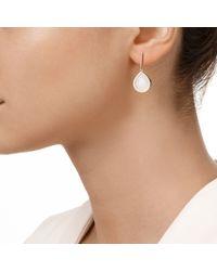 Monica Vinader - White Naida Lotus Drop Earrings - Lyst