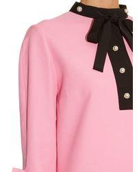 Gucci | Pink Silk and Wool-Blend Shirt Dress | Lyst