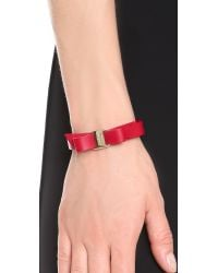 Ferragamo | Red Vara Bow Single Wrap Bracelet | Lyst