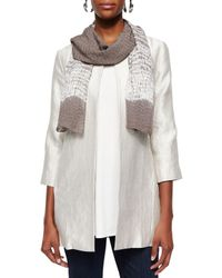 Eileen Fisher | Gray Silk Shibori Ripples Scarf | Lyst