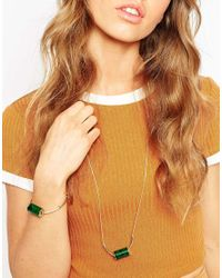 ASOS | Green Cylinder Thread Through Bracelet | Lyst