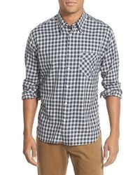 Billy Reid - Black 'walland' Standard Fit Check Sport Shirt for Men - Lyst