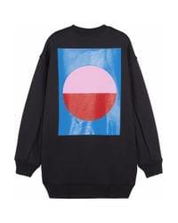 Acne Studios | Black Beta Geometric Printed Scubajersey Sweatshirt | Lyst