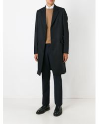 Paul Smith - Black Single Breasted Overcoat for Men - Lyst
