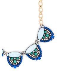 BaubleBar - Blue Opal Signet Collar - Lyst