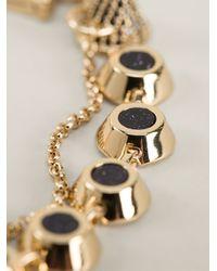 Eddie Borgo - Metallic Pave Gemstone Swag Bracelet - Lyst