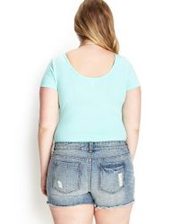 Forever 21 - Green Plus Size Solid Knit Bodysuit You've Been Added To The Waitlist - Lyst