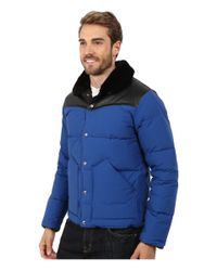 Penfield | Blue Rockwool Leather Yoke Down Jacket for Men | Lyst