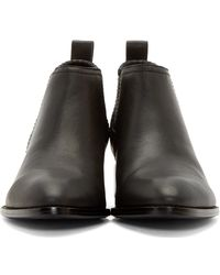 Alexander Wang | Black Notched Heel Kori Ankle Boots | Lyst