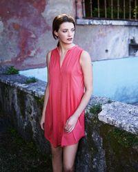 Hanro - Sleeveless Shirtwaist Nightgown Pink - Lyst