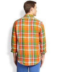 Polo Ralph Lauren | Blue Plaid Linen Estate Sportshirt for Men | Lyst