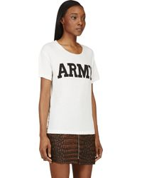 NLST - White Army Cottonblend Tee - Lyst