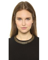 House of Harlow 1960 - Metallic Blackbird Collar Necklace Blackgold - Lyst