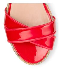 Stuart Weitzman - Red The Export Wedge - Lyst