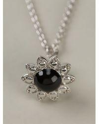 Vivienne Westwood Black Flower Pendant Necklace