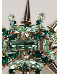 Philipp Plein | Green Spiked Cocktail Ring | Lyst