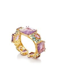 Bounkit | Multicolor Amethyst And Sky Blue Quartz Cuff | Lyst
